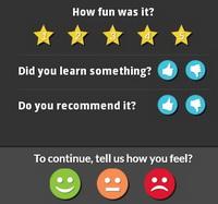 Kahoot feedback